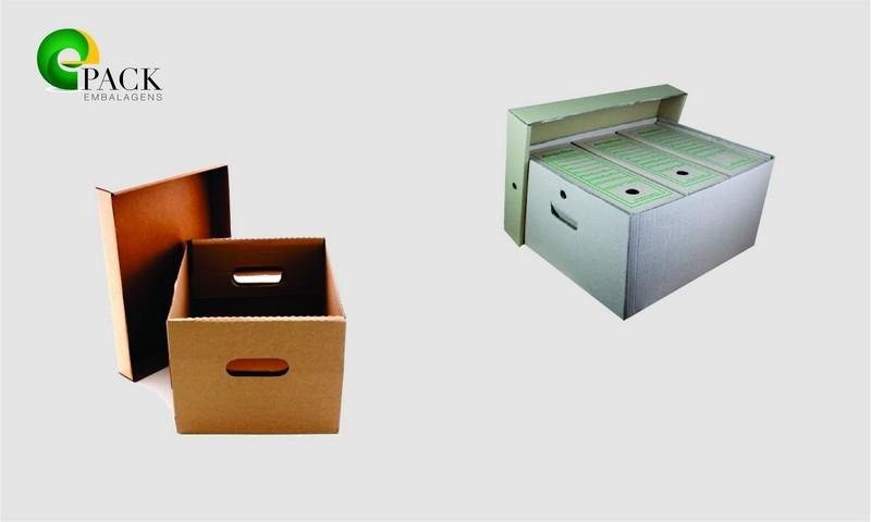 Caixa de arquivo morto de papelão