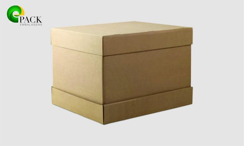 Embalagem de papelão grande